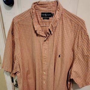POLO Men's orange cotton short sleeve shirt